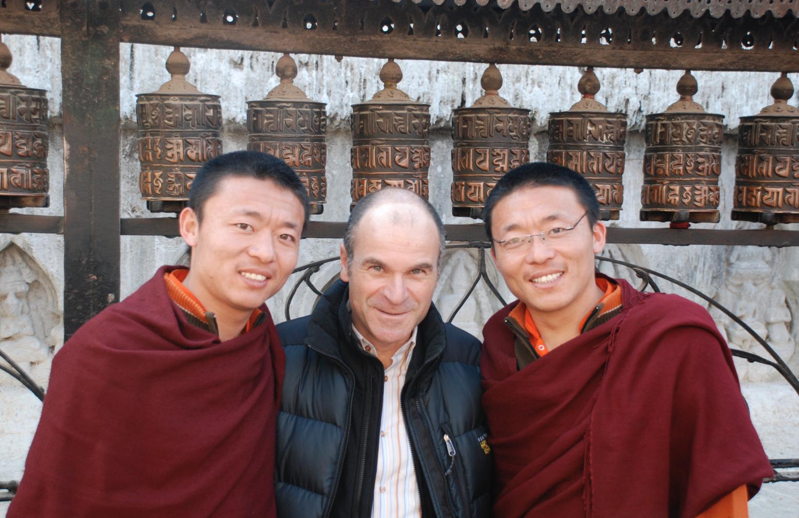 Selfie-Nepal monk